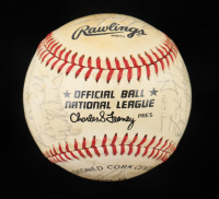 1984 Giants ONL Baseball Team-Signed by (30) with Dusty Baker, Rob Deer, Bob Brenly, Greg Minton (Beckett LOA) at PristineAuction.com