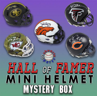 Schwartz Sports Football Hall of Famer Signed Mini Helmet Mystery Box – Series 16 (Limited to 150) (ALL MINIS ARE HALL OF FAMERS!!!) at PristineAuction.com