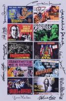 """Scream Queens"" 10x15 Movie Lobby Card Composite Photo Signed by (11) with Caroline Munro, Madeleine Collinson, Valerie Leon, Yvonne Monlaur (JSA LOA) at PristineAuction.com"