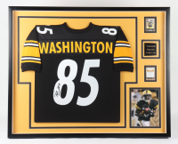 Nate Washington Signed 34x41 Custom Framed Jersey (Beckett LOA) (See Description) at PristineAuction.com