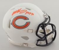"Mike Singletary Signed Bears Matte White Speed Mini Helmet Inscribed ""HOF 98"" (Beckett COA) at PristineAuction.com"