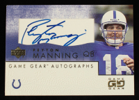 Peyton Manning 2001 UD Game Gear Autographs #PMGS at PristineAuction.com