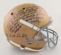 Rudy Ruettiger Signed Notre Dame Fighting Irish Full-Size Helmet with Extensive Inscription (Beckett COA & Ruettiger Hologram) at PristineAuction.com