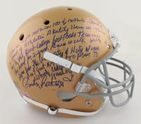 Rudy Ruettiger Signed Notre Dame Fighting Irish Full-Size Helmet with Extensive Inscription (Beckett COA & Ruettiger Hologram) (See Description) at PristineAuction.com