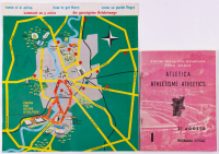 Vintage 1960 Olympics Guide Book with Original Pull Out Map at PristineAuction.com