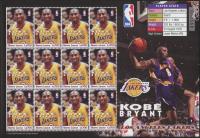 Kobe Bryant Full Uncut Stamp Sheet at PristineAuction.com