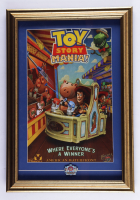 """Disneyland's """"Toy Story Mania"""" 15x23 Print Display With Midway Mania 3-D Pin at PristineAuction.com"""