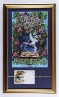 Vintage Disneyland Jungle Cruise 16x27 Custom Framed Print Display with Vintage Disneyland Photo Portfolio & Jungle Cruise Pin at PristineAuction.com