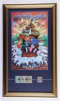 "Disneyworld's ""Splash Mountain"" 15x26 Print Display with Vintage Disneyland Ticket Book & Splash Mountain Pin at PristineAuction.com"