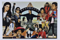 """Anthony Douglas Signed """"King of Pop"""" LE 12x18 Art Print (PA LOA) at PristineAuction.com"""