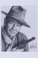 "Anthony Douglas Signed ""The Duke"" LE 12x18 Art Print (PA LOA) at PristineAuction.com"