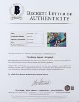 Tom Brady Signed LE 30x40 Custom Framed Lithograph (Beckett LOA) at PristineAuction.com