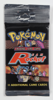 1999-2000 Pokemon TCG - Team Rocket Series Booster Pack with (11) Cards at PristineAuction.com
