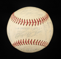 1963 Red Sox OAL Baseball Team-Signed by (27) with Carl Yastrzemski, Billy Herman, Dick Williams, Johnny Pesky (Beckett LOA) at PristineAuction.com