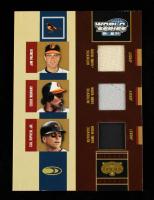 Jim Palmer / Eddie Murray / Cal Ripken Jr. 2004 Donruss World Series Triple Threads #13 Jersey Jacket #12/50 at PristineAuction.com