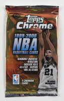 1999-00 Topps Chrome Basketball Hobby Edition Foil Pack with (4) Cards at PristineAuction.com