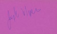 Joseph Wiseman Signed 3x5 Index Card (JSA COA) at PristineAuction.com