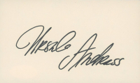 Ursula Andress Signed 3x5 Index Card (JSA COA) at PristineAuction.com