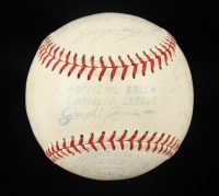 1966 Yankees OAL Baseball Team-Signed by (19) with Clete Boyer, Dick Schofield, Tom Tresh, Elston Howard (Beckett LOA) at PristineAuction.com