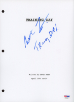 """Antoine Fuqua Signed """"Training Day"""" Movie Script Cover Page Inscribed """"Training Day!"""" (PSA COA) at PristineAuction.com"""