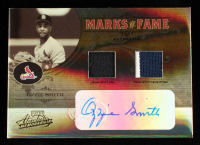 Ozzie Smith 2005 Absolute Memorabilia Marks of Fame Autograph Swatch Double Spectrum Prime #MF48 #9/10 at PristineAuction.com