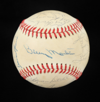 """1978 Yankees OAL Baseball Team-Signed by (22) with Yogi Berra, Jim """"Catfish"""" Hunter, Ron Guidry, Goose Gossage (Beckett LOA) at PristineAuction.com"""