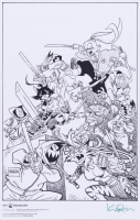 """Kevin Eastman Signed """"Usagi and the Ragdolls"""" LE 11x17 Photo (Beckett COA) at PristineAuction.com"""