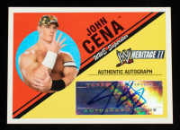 John Cena 2006 Topps Heritage II WWE Autographs #NNO at PristineAuction.com