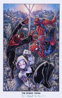 """Kevin Eastman Signed """"The Spider-Verse"""" 11x17 Photo (Beckett COA) (See Description) at PristineAuction.com"""