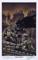 """Kevin Eastman Signed """"Dark Knights"""" 11x17 Photo with Hand-Drawn Sketch (Beckett COA) (See Description) at PristineAuction.com"""