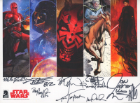 """""""Star Wars"""" 8x10 Photo Cast-Signed by (11) with Tom Taylor, Randy Strodley, Dave Dorman, Dan Parsons (JSA LOA) at PristineAuction.com"""
