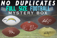 Schwartz Sports NO DUPLICATES Signed Full-Size Football Mystery Box - Series 3 (Limited to 100) (100 DIFFERENT PLAYERS IN SERIES!!!) at PristineAuction.com