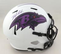 Odafe Jayson Oweh Signed Ravens Full-Size Lunar Eclipse Alternate Speed Helmet (JSA COA) at PristineAuction.com