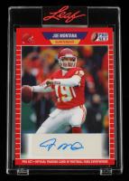 Joe Montana 2021 Leaf Pro Set Sports Autographs Red #PSAJM2A at PristineAuction.com