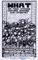 """Kevin Eastman Signed """"Teenage Mutant Ninja Turtles"""" 11x17 Photo with Hand-Drawn Sketch (Beckett COA) (See Description) at PristineAuction.com"""