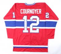 "Yvan Cournoyer Signed Jersey Inscribed ""HOF 1982"" (JSA Hologram) at PristineAuction.com"