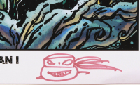 """Kevin Eastman Signed """"TMNT Batman I"""" 11x17 Photo with Hand-Drawn Sketch (Beckett COA) (See Description) at PristineAuction.com"""