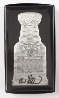 Brad Marchand Signed 2011 Stanley Cup Champions Ticket Holder Silver Pewter Piece with Original Packaging (Marchand COA) at PristineAuction.com