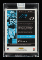Luke Kuechly 2018 Panini One Red #127 Jersey Autograph #20/25 at PristineAuction.com