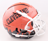 Baker Mayfield Signed Browns Full-Size Authentic On-Field Hydro Dipped F7 Helmet (Beckett Hologram) (See Description) at PristineAuction.com