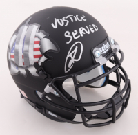 """Robert O'Neill Signed """"Twin Towers Tribute"""" Mini Helmet Inscribed """"Justice Served"""" (PSA COA) at PristineAuction.com"""