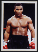 """""""Iron"""" Mike Tyson Signed 35x43 Custom Framed Boxing Trunks Display (Tyson Hologram) at PristineAuction.com"""