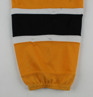 """Gregory Campbell Signed Bruins Game-Worn Sock Inscribed """"Game Worn"""" (Campbell COA) at PristineAuction.com"""