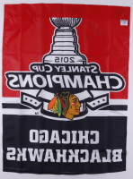 Scott Darling Signed Blackhawks 2015 Stanley Cup Champions Flag (Darling COA) at PristineAuction.com