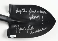 """Henry Hill Signed Shovel Inscribed """"Dig the F-ckin Hole Henry!"""" & """"Goodfellas"""" (JSA Hologram) at PristineAuction.com"""