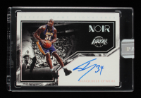 Shaquille O'Neal 2019-20 Panini White Box Noir Freeze Frame Signatures #30 #1/1 at PristineAuction.com