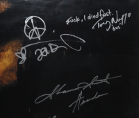"""""""Saw II"""" 27x40 Movie Poster Signed By (7) with Tobin Bell, Shawnee Smith, Timothy Burd, Noam Jenkins, Donnie Wahlberg with Multiple Inscriptions (Beckett LOA) (See Description) at PristineAuction.com"""
