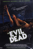 """""""The Evil Dead"""" 26.5x39.5 Movie Poster Signed By (6) with Bruce Campbell, Sarah York, Tom Sullivan, Ellen Sandweiss, Betsy Baker & Hal Delrich with Multiple Inscriptions (Beckett LOA) (See Description) at PristineAuction.com"""