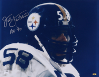"Jack Lambert Signed Steelers 16x20 Photo Inscribed ""HOF '90"" (JSA COA & Lambert Hologram) at PristineAuction.com"