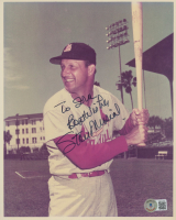 """Stan Musial Signed Cardinals 8x10 Photo Inscribed """"Best Wishes"""" (Beckett COA) at PristineAuction.com"""